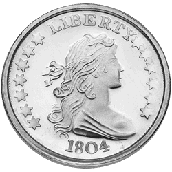 liberty silver round